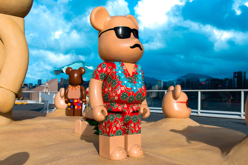 bearbrick harbour city summer chill 2000 percent Hawaiian print