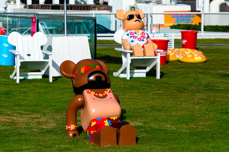 bearbrick harbour city summer chill 2000 Hawaiian print sun bathe