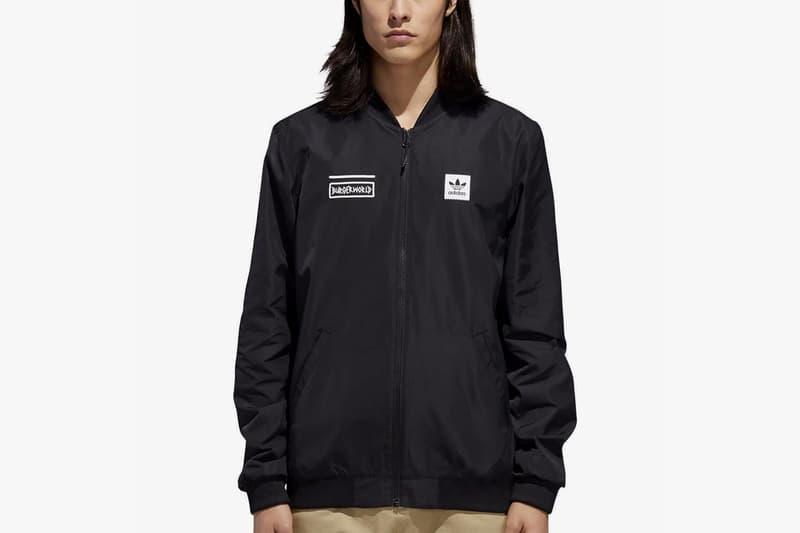 beavis and butt head adidas originals collaboration november 2018 black coaches jacket logo branding coat