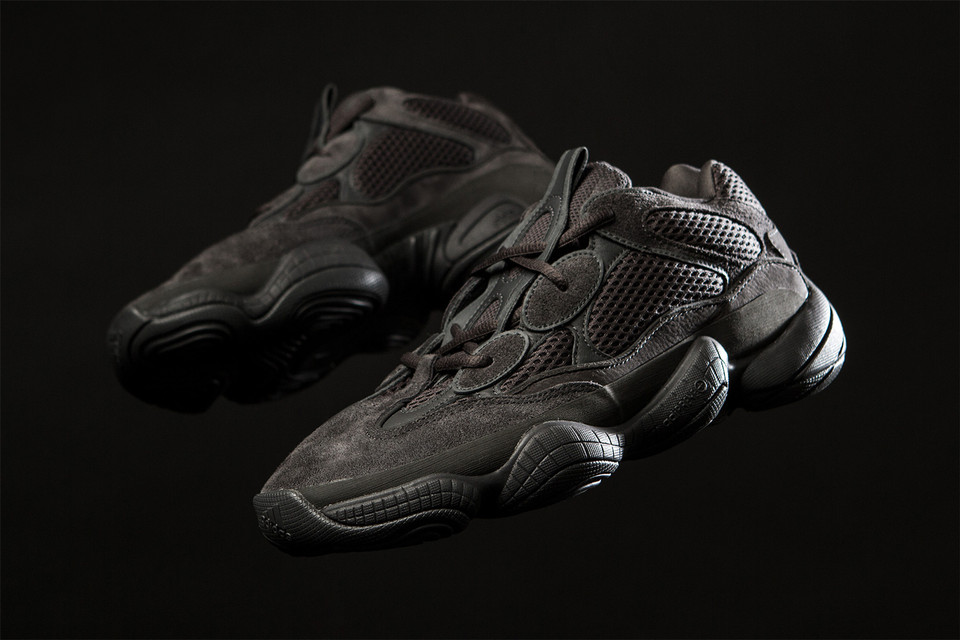 38812b01c3c9e The YEEZY 500 Is Back in Black for This Week s Footwear Drops