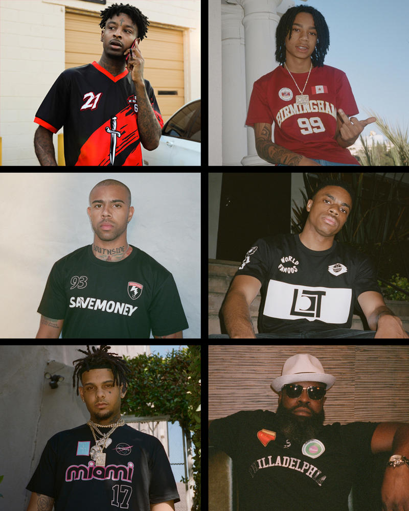 Bleacher Report World Cup Hip Hop Collection 21 Savage Vic Mensa Vince Staples The Roots YBN Nahmir Smokepurpp Jerseys