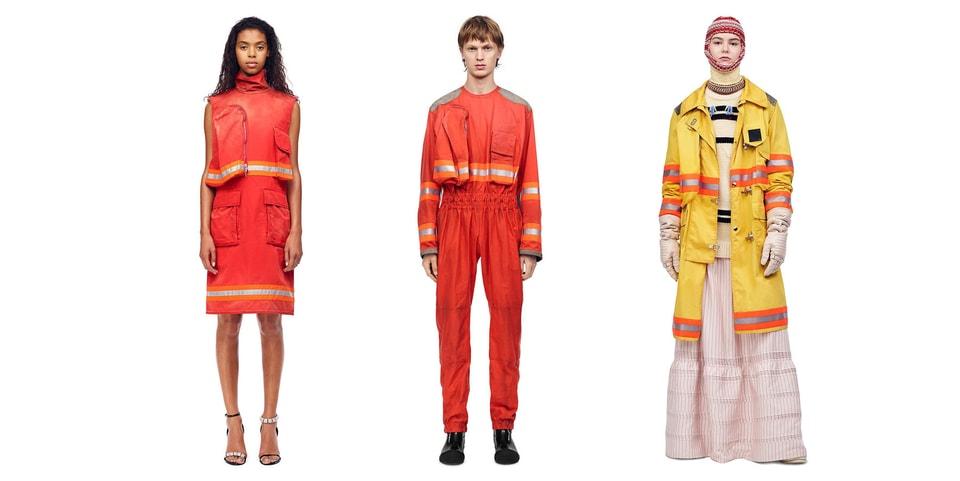 17d70e5f9665 CALVIN KLEIN 205W39NYC FW18 Fireman Clothing