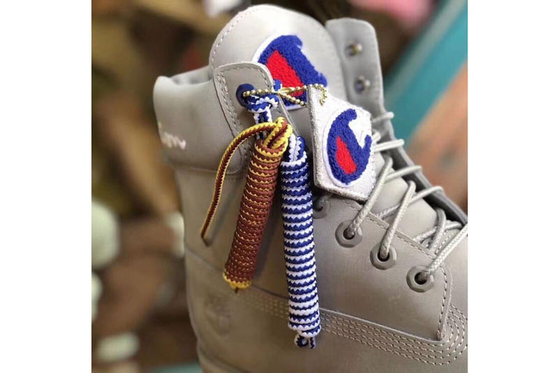 A Champion x Timberland Boot Collaboration Surfaces