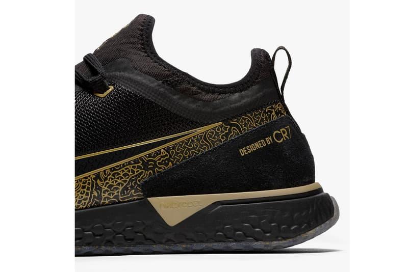 "Cristiano Ronaldo Nike FC CR7 ""Black/Metallic Gold"" sneaker release date price"