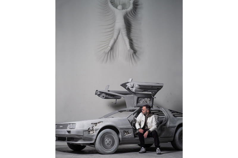 "Daniel Arsham ""3018"" Exhibition Galerie Perrotin New york delorean car future relic art show opening hours address"
