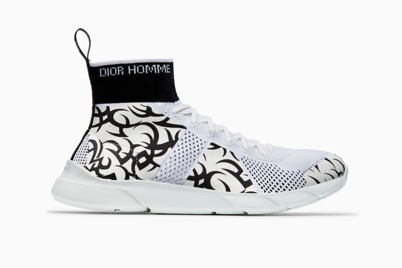 B21 B23 Socks High Top Sneaker Trainer Tribal Knit Technical Canvas