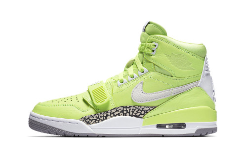 "An Official Look at the Don C x Jordan Legacy 312 ""Ghost Green"""