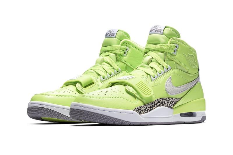 Don C Jordan Legacy 312 Ghost Green Official Look Release Brand Just Don Nike Air Jordan 1 3 Air Trainer