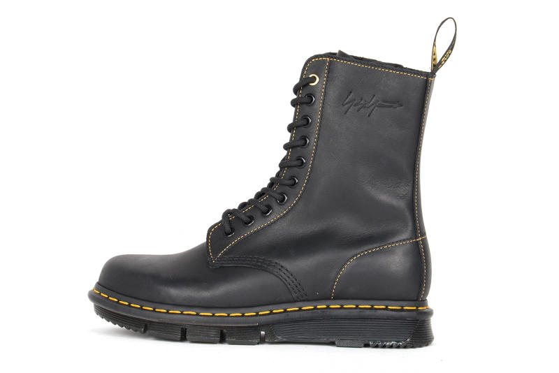 Dr. Martens x Yohji Yamamoto Fall/Winter 2018 Collab Collaboration Collection Boots Shoes Kicks Trainers Sneakers Footwear 1460 10-hole boot silhouette paris fashion week release information