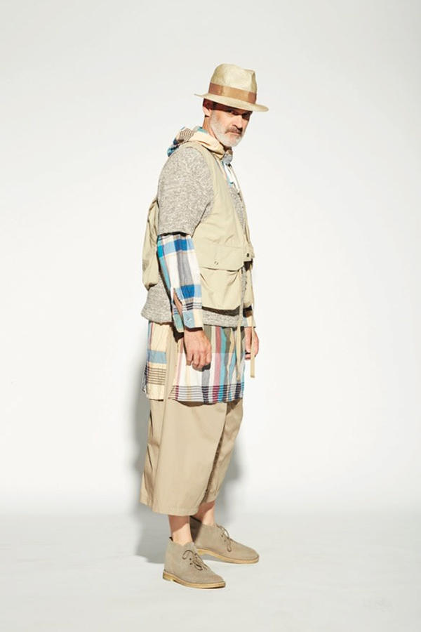 Engineered Garments Spring Summer 2019 Lookbook Birkenstocks Hoka One One Suicoke sandals adidas Vans Tricker