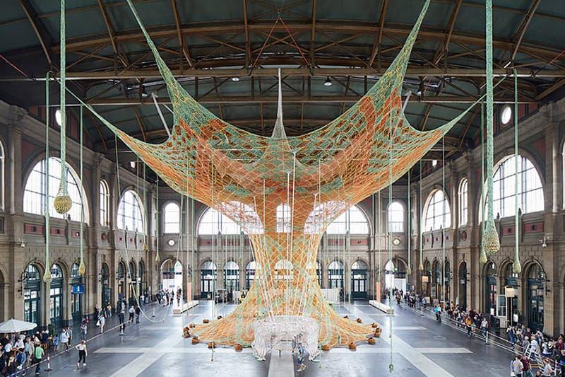 Ernesto Neto GaiaMotherTree Knit Installation Zurich central station Art