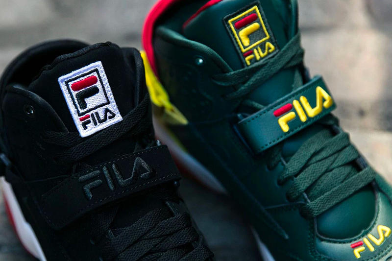Fila Jimmy Jazz Fila Spoiler  Fila Original Fitness Varsity sneaker green yellow red black white retro new era hat