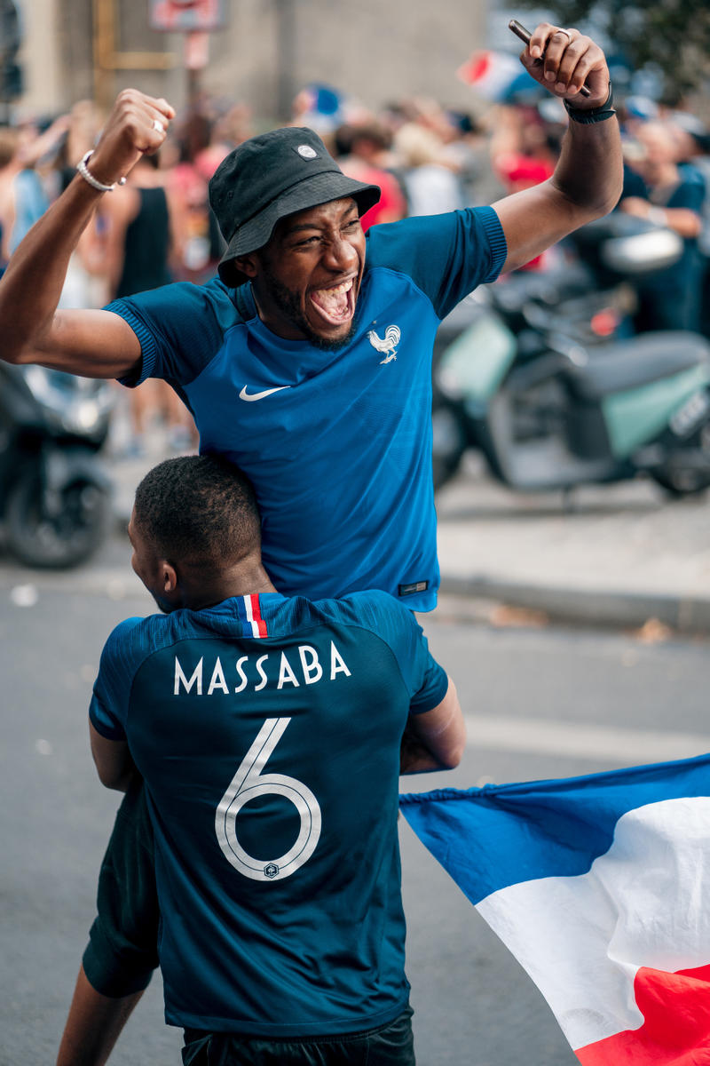 France FIFA World Cup 2018 Celebration Recap Football Fans Street Party Kylian Mbappe Champs Elysee