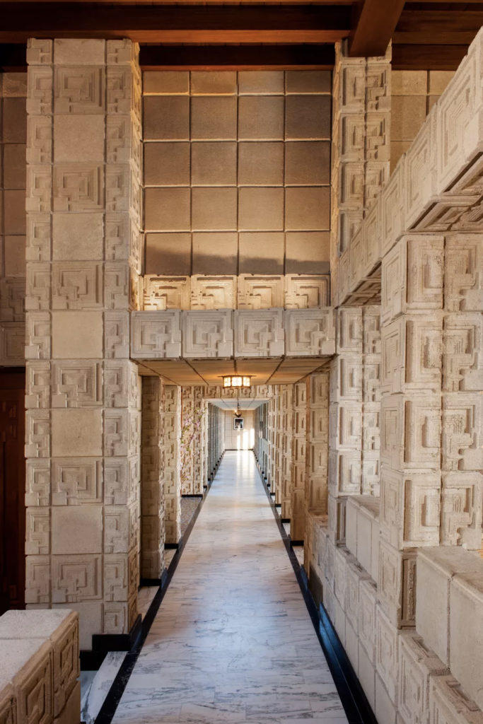 Frank Lloyd Wright Bladerunner Ennis House For Sale Available Purchase Auction Swimming Pool Mansion Los Angeles California $23 Million USD Architecture Homes Houses