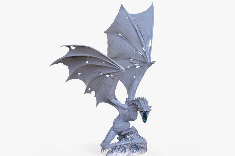 Dark Horse Direct Game of Thrones Ice Dragon Statue San Diego Comic Con Night King Viserion HBO GoT