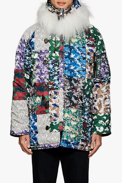 Gosha Rubchinskiy fall winter 2018 Patchwork Camouflage faux fake Fur n 3b Parka drop buy pre order tech fabric barneys nyc drop release date buy purchase sale 505814098