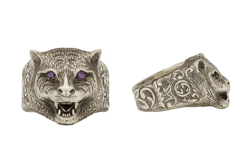 a2823a688a35d Gucci Drops Angry Cat Sterling Silver Ring