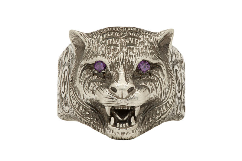 898db419892b9 Gucci Angry Cat Sterling Silver Ring purple accessories jewelry release info