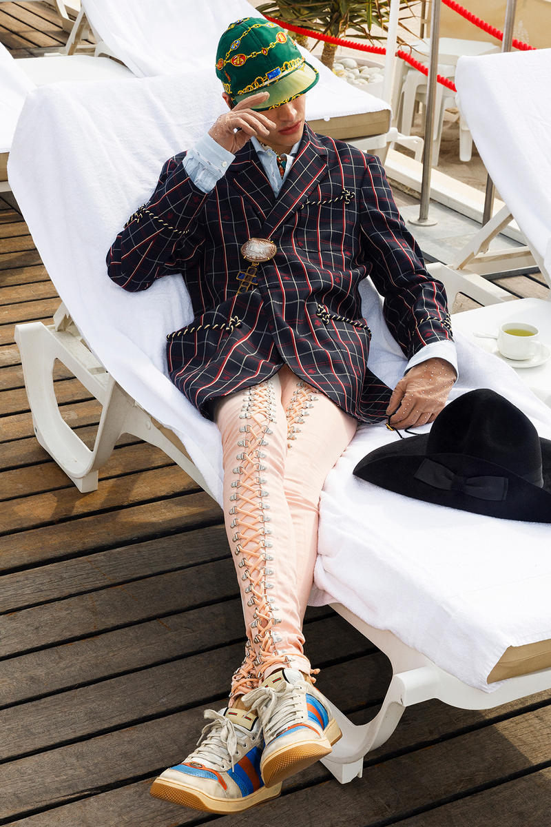 16c27b026aab41 Gucci Cruise 2019 Menswear Lookbook Fashion Clothing Martin Parr Cannes  Sneakers Sandals Sega Release Details Information