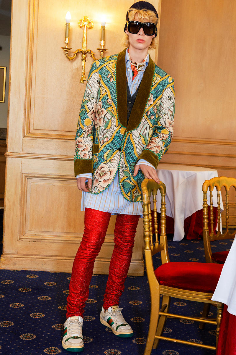 Gucci Cruise 2019 Menswear Lookbook Fashion Clothing Martin Parr Cannes Sneakers Sandals Sega Release Details Information First Look Chateau Marmont Memento Mori