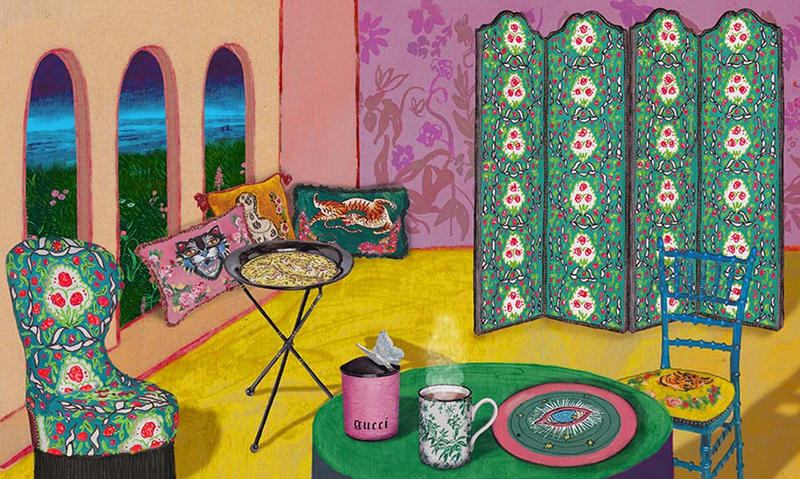 Gucci Décor Collection for New Season 2018 Furniture