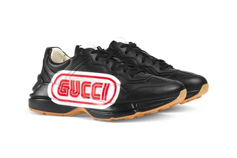 Gucci SEGA Model black leather fall winter 2018 release info sneakers footwear
