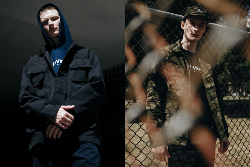 Haven fall winter 2018 delivery drop 1 made in canada japan hoodies tees jackets hats sweaters pants in house label clothing line drop release date buy purchase july 24 2018 drop release date