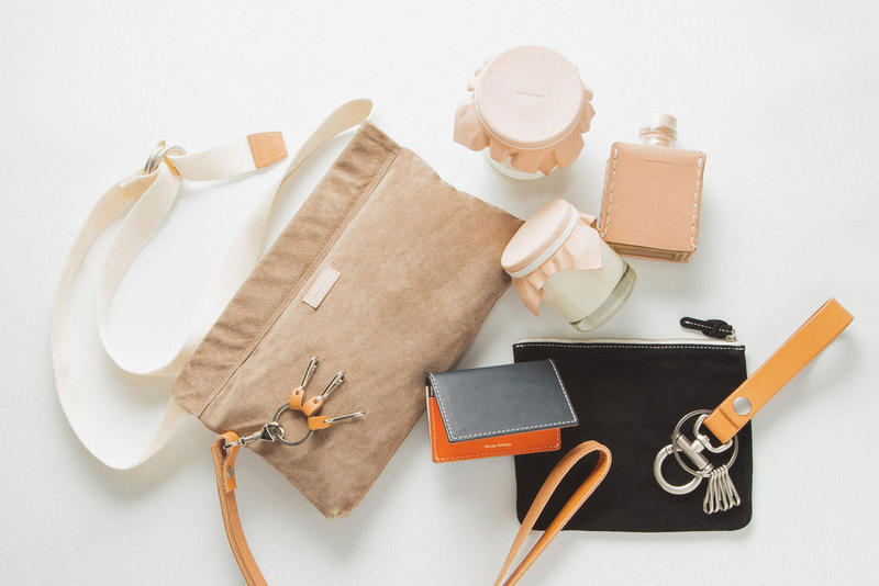 Hender Scheme fall winter 2018 drop deliver flat hbx buy purchase sale store july 20 2018 delivery tan raw leather keyring bag necklace candle diffuser