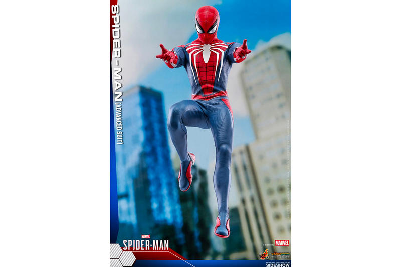 Hot Toys PS4 Spider Man Advanced Suit Figure 1/6th scale collectible figure Sony Marvel Playstation 4