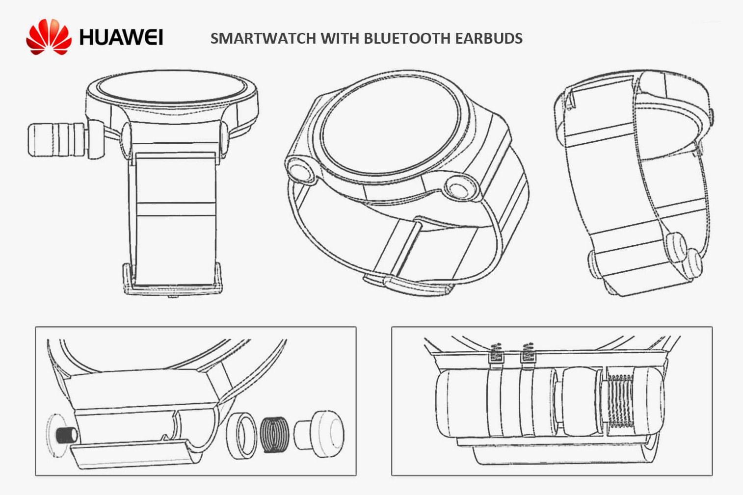 Huawei Patented Smartwatch Wireless Earbuds Bluetooth World Intellectual Property Organization
