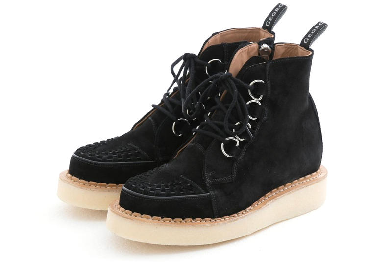 HUMAN MADE George Cox D-Ring Creeper boot suede derby black grey tan release info