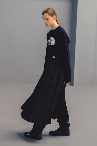 HYKE The North Face Fall/Winter 2018 Lookbook Purple Black Label collaboration collection august 12 2018 drop release launch closer first look japan exclusive women green black boot belt coat jacket bolero