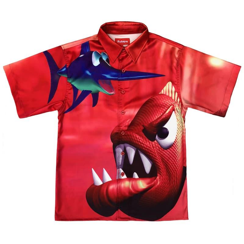 imran potato donkey kong country parody shirt red fish piranha swordfish