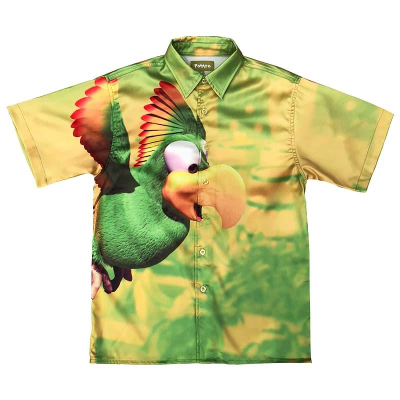 imran potato donkey kong country parody shirt green gold Squawks parrot