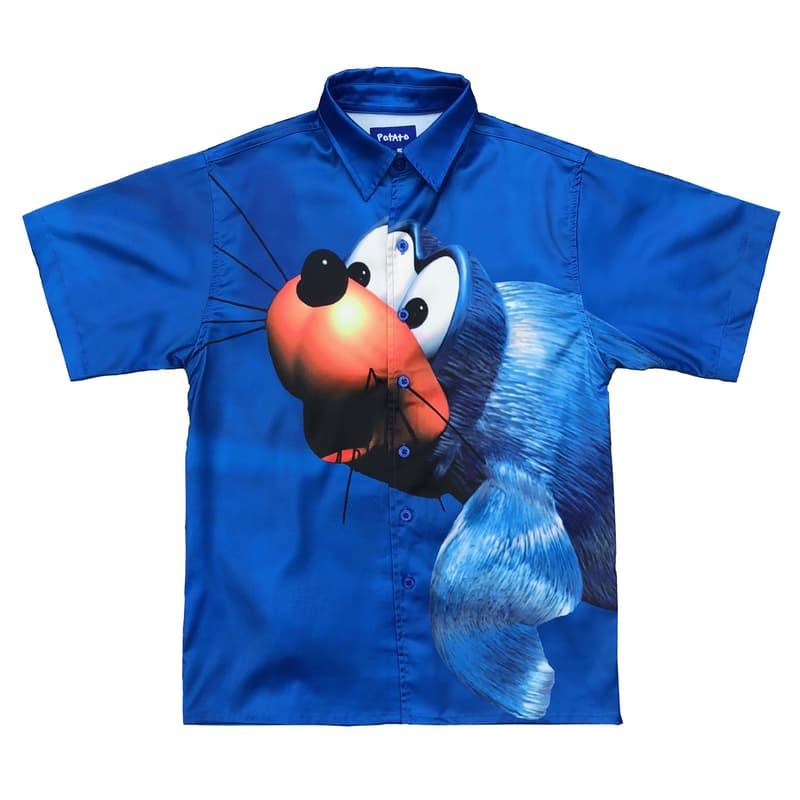 imran potato donkey kong country parody shirt seal blue front