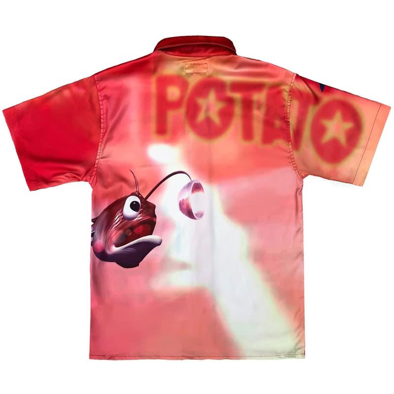 imran potato donkey kong country parody shirt red fish piranha swordfish angler back