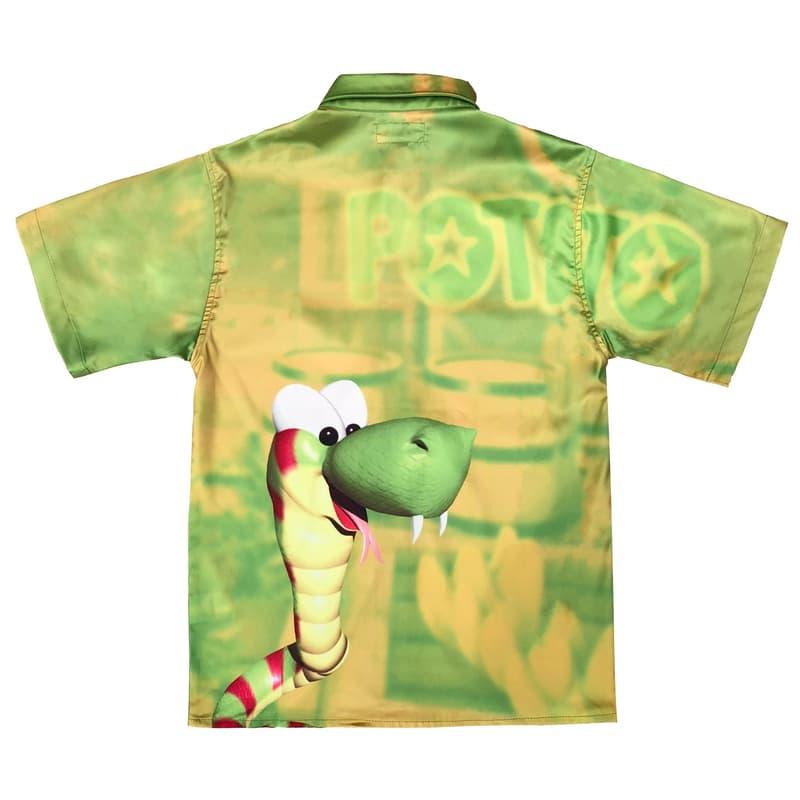 imran potato donkey kong country parody shirt green gold snake rattly rattlesnake back