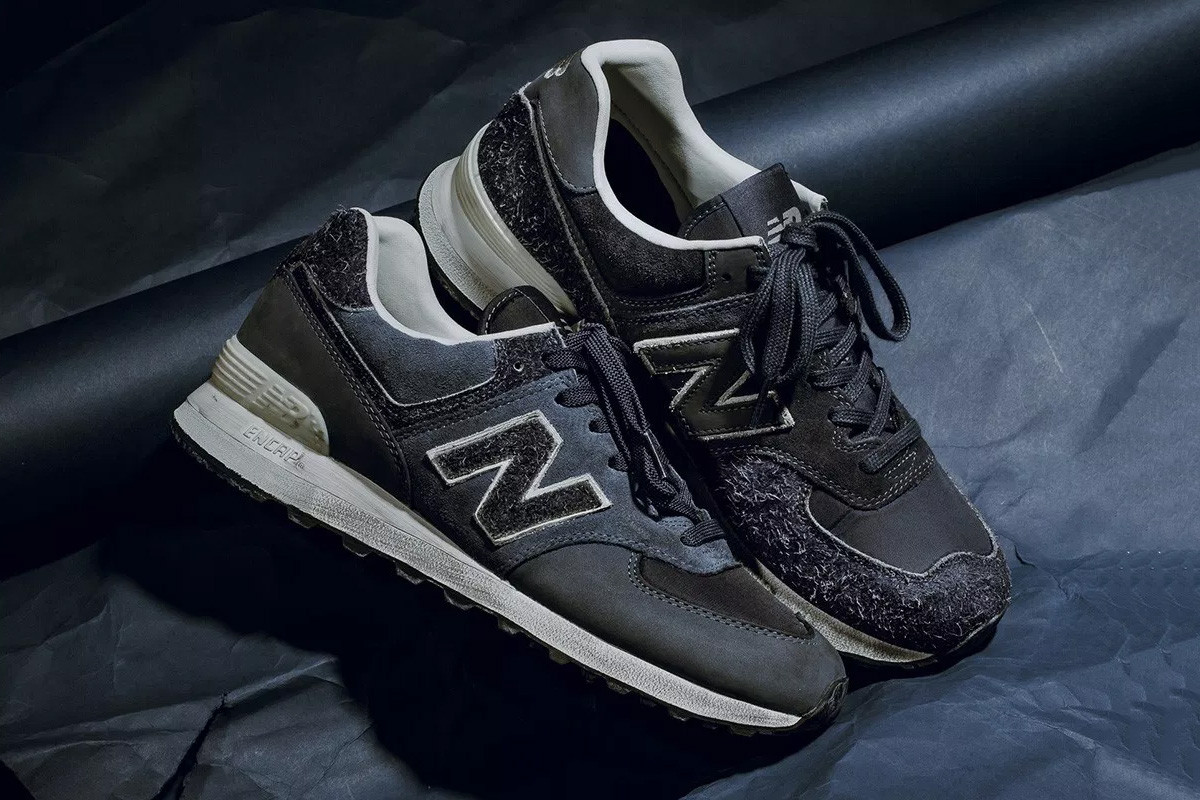 new balance blue suede 574 sneakers
