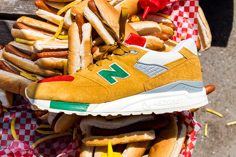J. Crew New Balance 998 Ketchup Mustard Colorway red green pickle relish  yellow hot dog 0372be077