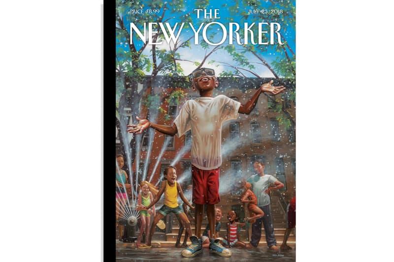 kadir nelson art illustration summertime city the new yorker magazine publication