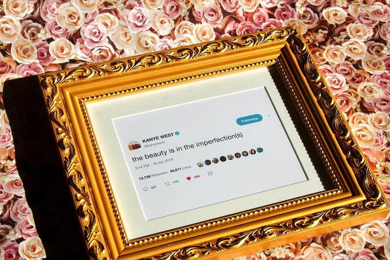 Kanye West Framed Tweets Art Twitter Rant
