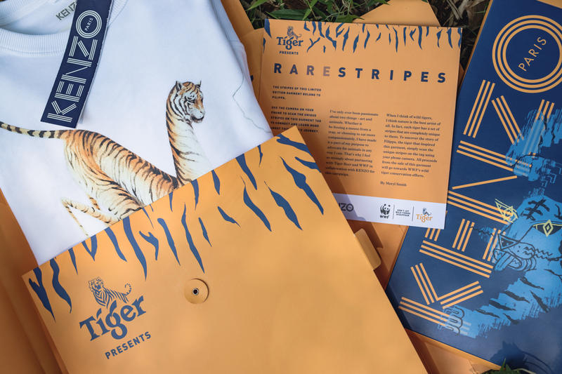 KENZO Tiger Beer WWF Launch 'Rare Stripes' Collection