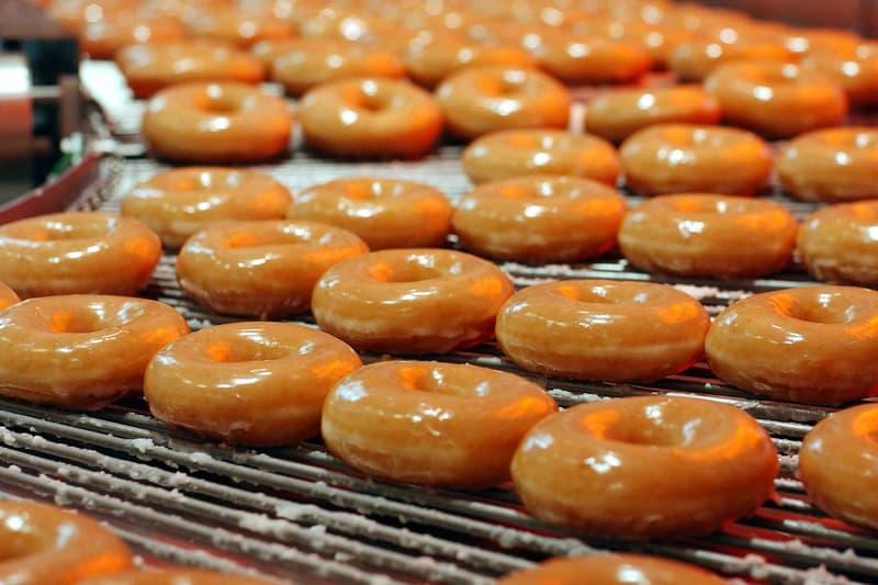Krispy Kreme Dozen Doughnuts 81st Birthday glazed vanilla cake food anniversary