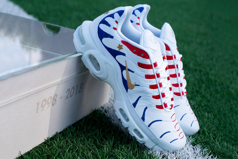 Kylian Mbappé Nike Air Max 1998 2018 Pack World Cup France Air Max Plus Air Max 270 football FIFA red white blue winning stars