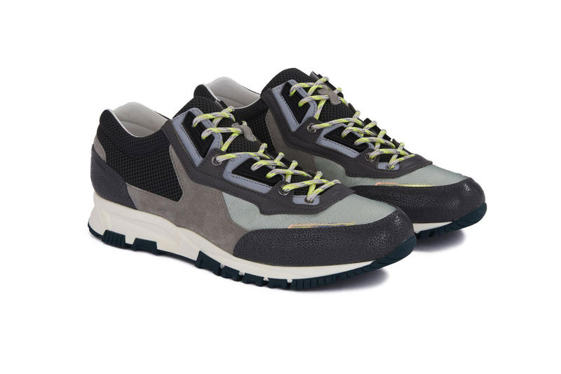lanvin mesh cross trainer grey beige light brown white midnight blue calfskin release date drop info closer look luxury