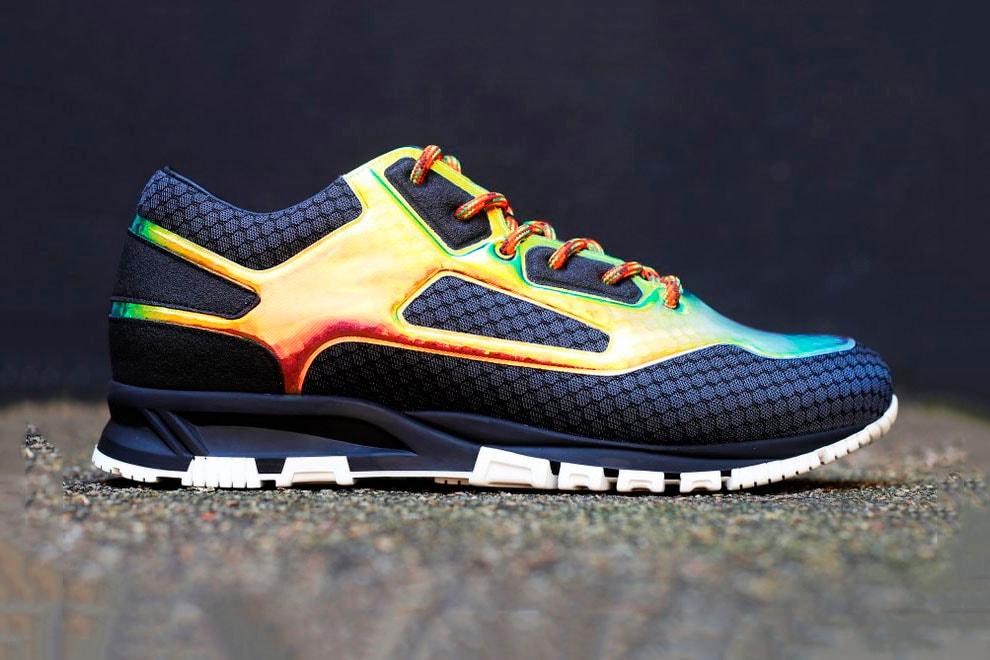 7e39995c0911 Lanvin Releases Multicolor Iridescent Sneaker