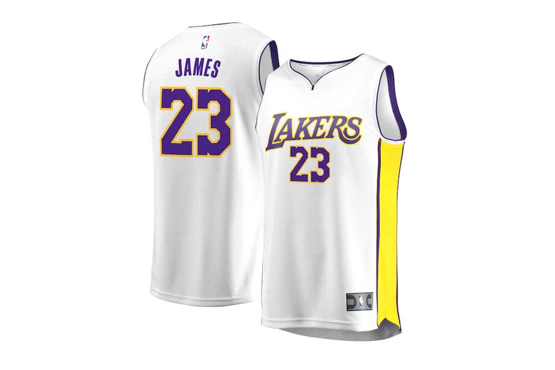 LeBron James No. 23 Los Angeles Lakers Jersey selling out basketball nba cleveland cavaliers