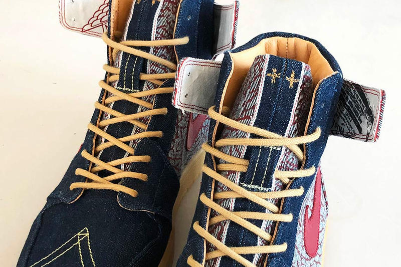 Levi's Air Jordan 1 High Denim Preview Customizer Customs JBF Jordan Brand Unique One of One 2008 501