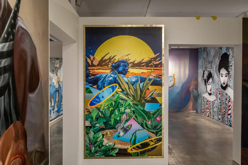 long beach museum of art vitality and verve artworks murals exhibitions installations paintings bodralo case evoca sergio garcia herkut hush jaune leon keer