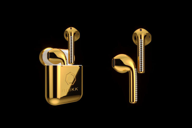 Apple Airpods Gold Brikk Custom Price Details Cop Purchase Buy $10,000 USD £7,600 GBP